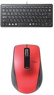 エレコム 有線超薄型ミニキーボード TK-FCP096BK & エレコム Bluetooth(R)4.0 BlueLEDワイヤレスマウス M-BT19BBRD セット