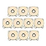 SUPVOX 10pcs Bottoni magnetici Bottoni Automatici Bottoni Fibbia in Metallo catenacci Fiore di Prugna per Borse Portamonete Vestiti Fare 18mm (Dorato)