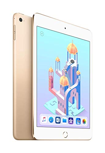 Apple iPad Mini 4 128GB Wi-Fi + Cellular - Gold - Unlocked (Renewed)