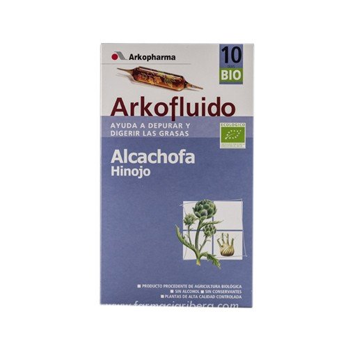 ARKO - ARKOPHARMA Arkofluido Alcachofa+Hinojo 10 ampollas