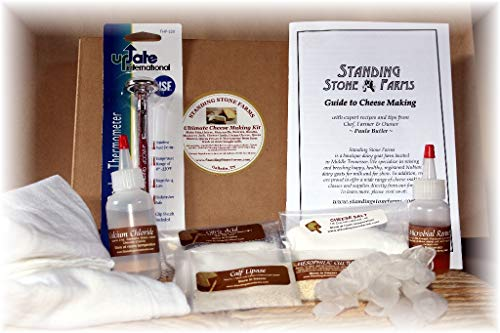 Standing Stone Farms Ultimate Cheese Making Kit – Mozzarella, Burrata, Feta, Halloumi, Cheddar Cheese Curds, Monterey Jack, Cream Cheese, Marscapone, Chèvre, Ghee and more.
