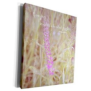 3dRose Patricia Sanders Flowers – Vintage Purple Flower Grief Quote Flowers Sympathy – Museum Grade Canvas Wrap (cw_29440)