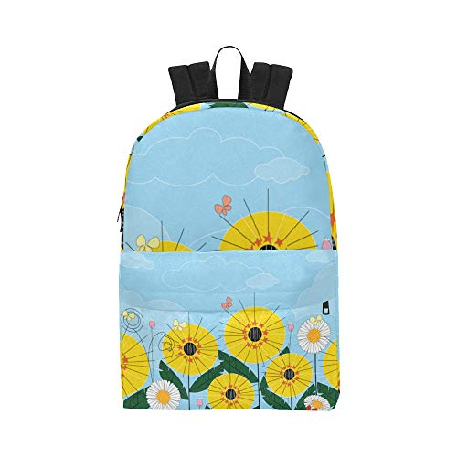 Sports Cooler Bag Butterfly Colorful Flowers Daypack Travel Bags Causal College School Backpacks For Women Men Student Best Bookbag