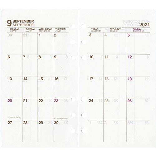 エトランジェディコスタリカetrangerdicostaricaシステム手帳リフィル2021年マンスリーダイアリーバイブルアイボリー2C0101-SBBRF-M-03