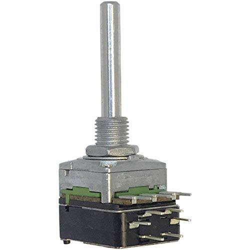 Potentiometer Service 63250-01402-5838/B100K Dreh-Potentiometer 1-Gang, mit Druck-Zug-Schalter Mono 0.2 W 100 kΩ 1 St.