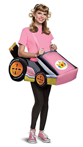 Disguise Womens Peach Kart Costume, Pink, One Size Adult