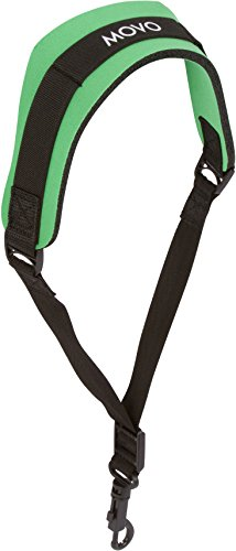 Movo MS-20R-G Neoprene Instrument Neck Strap for Saxophones, Horns, Bass Clarinets, Basoons, Oboes and More (Green - Short Length)