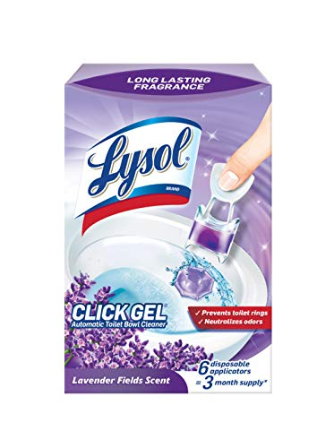 Lysol Automatic Toilet Bowl Cleaner, Click Gel, Lavender Fields, 6 Count