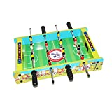FXQIN Mini Soccer Table Juego de Futbolín de Mesa Futbolín para niños Adultos, Futbolín Madera de Juego de fútbol de Mesa con 4 Polos, 2 Bolas,...