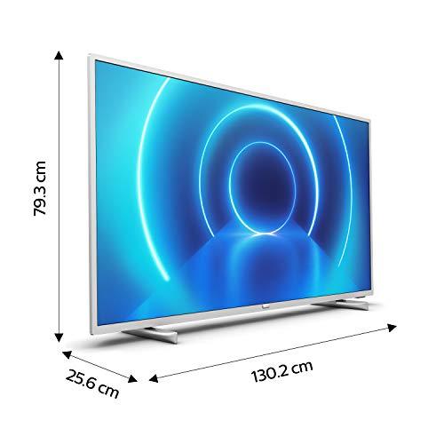 Philips 58PUS7555/12 58-Zoll 4K UHD LED TV (P5 Engine, Dolby Vision∙Atmos, HDR 10+, Saphi Smart TV) mit Soundbar B6405/10 inkl. Subwoofer (Bluetooth, 140 W, Dolby Audio) Mittelsilber