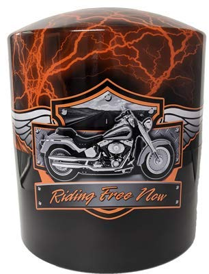 Armored Angel Motorcycle Riding Free Theme Hydro-Graphic Print Cremation Urn/Vault Combination (Tall)