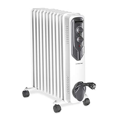 TROTEC Ölradiatore TRH 21 E - elektrischer, energiesparender Heizkörper mit 11 Rippen, 3 Heizstufen (1.000/1.500/2.500 Watt), regulierbaren Thermostat und Sicherheitsabschaltfunktion