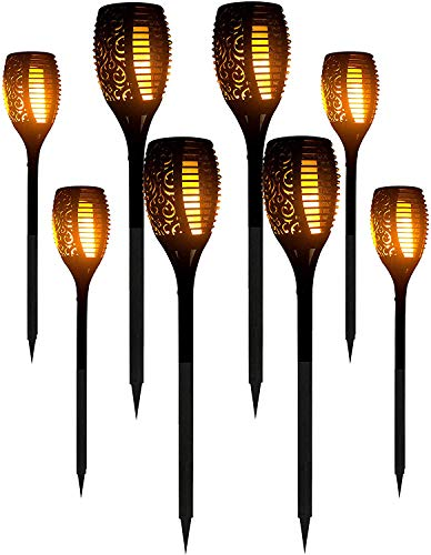ANTONIO CABRERA HOME COLLECTION 8 Packs LED Solar Outdoor Dancing Flickering Flames Torch Light...