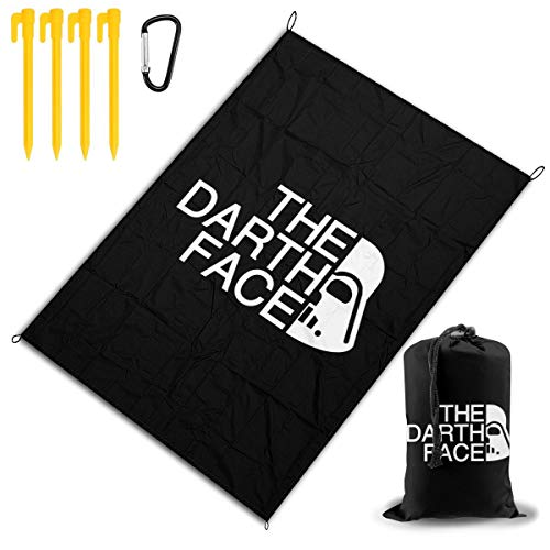 Best Price MWM The Darth Face Beach Blanket Large Outdoor Picnic Blanket 57x80, Picnic Mat, Campin...