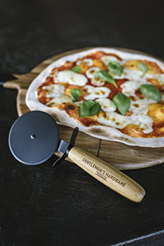 Gentleman 's Hardware Pizzaschneider und Servierbrett, braun, 15Zoll - 2