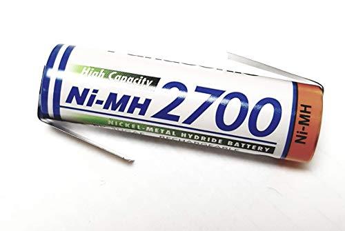 PaNASONIC batterie mIGNON/aA - 1,2 v 2700mAh/bK - 3HGAE pile avec pattes à souder en forme de z