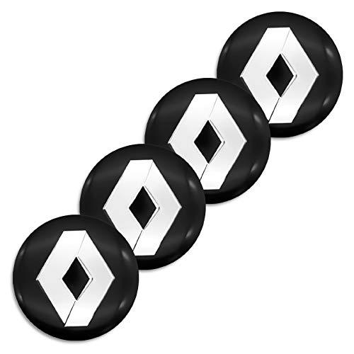 4 piezas de 56 mm para emblema de coche, cubierta de adhesivo para megane 2 clio plumero sport trafic kadjar captur twingo styling (Colore : 2)
