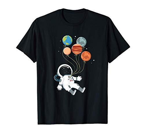 Globos de astronautas Planetas I Espacio I Astronauta Camiseta