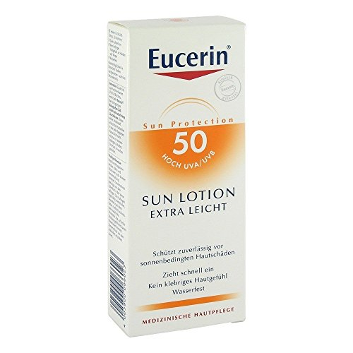Eucerin Sensitive Protect Sun Lotion Extra Light LSF 50+, 150 ml Lotion
