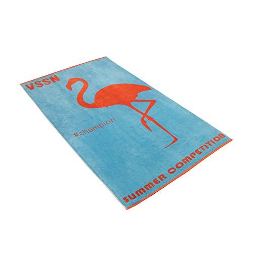 Vossen Strandtuch Mister Flamingo Paradise Blue, 100 x 180 cm