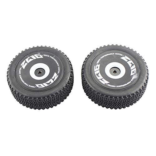 chiwanji Neumáticos Delanteros del Coche de 2pcs RC Aptos para El Coche de RC 1/12 WLTOYS 124018 RC