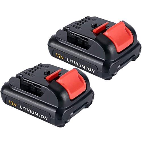 2-Pack 3000mAh 12V Replace for Dewalt Battery, Lithioum-ion Battery for Dewalt DCB120, DCB127, DCB123