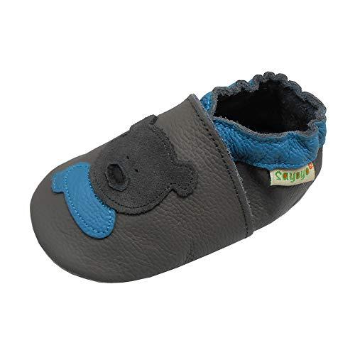 Sayoyo cr/âne Chaussures de b/éb/é en Cuir Souple Chaussures Semelle Douce