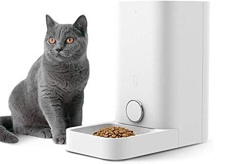 PETKIT Alimentador Inteligente para Perros y Gatos-Doble Fresco/Nunca Tarjeta/Gran Capacidad/Fácil de Limpiar-Blanco (Large)