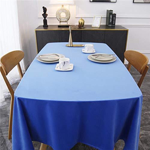 YuHengJin Mantel Mesa Rectangular Antimanchas Cubremesa Suave y Espeso para de Hogar Picnic del Hotel Tienda de Café Azul 100×100cm