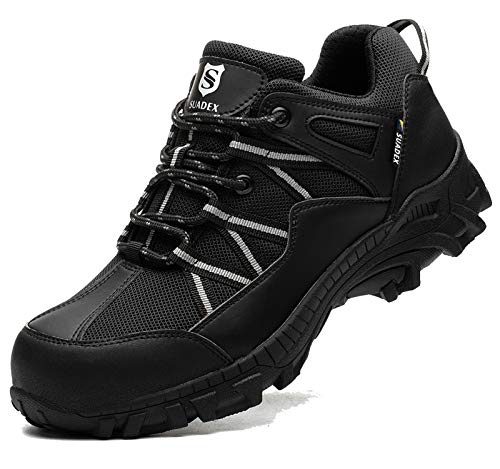 BAOLESEM Wanderschuhe Herren Damen Wasserdicht Trekkingschuhe Outdoor Sicherheitsschuhe Arbeitsschuhe Herren Sportlich Schuhe Größe 36-48