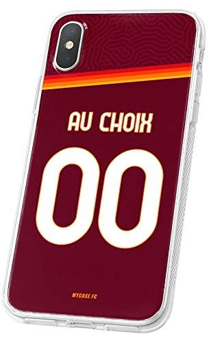 MYCASEFC - Cover da calcio personalizzabile AS Roma Wiko Wim Lite in silicone per smartphone personalizzata e realizzata in Francia in TPU