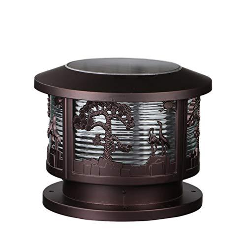 ACHNC Luces de Jardín Solar,Farolas LED Para Exterior,Faros de Columna IP65 Impermeable Luces de Camino Lámpara de Pilar Retro Antiguo Lámpara de Columna Terraza Paisaje Pared Seguridad Iluminación