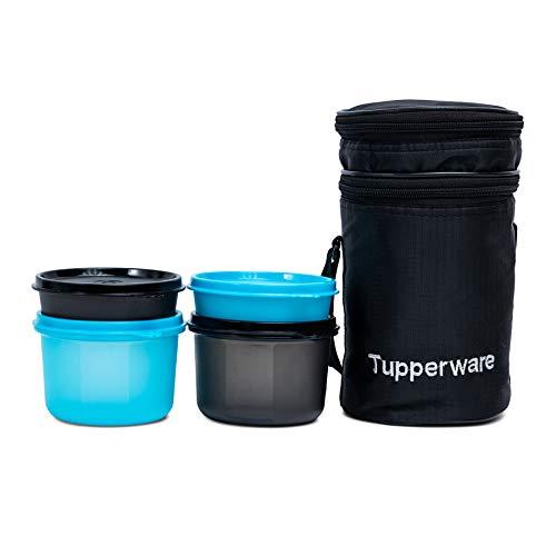 Tupperware Plastic Xtreme Executive Lunch Set (Blue, Black)