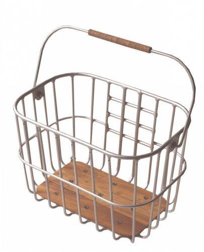 Brooks Fahrradkorb Hoxton Wire Basket 25 Liter, Silber, Hoxton