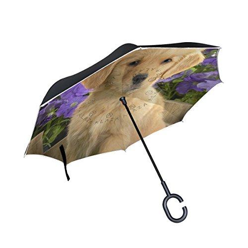 ISAOA paraguas grande invertido a prueba de viento de doble capa construcción...