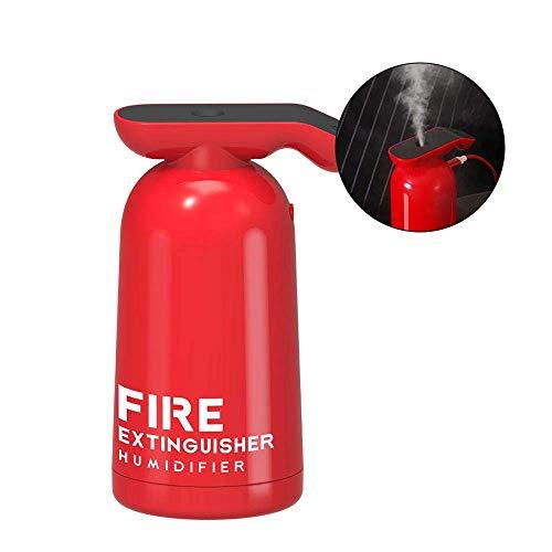 YBWNKD Mini Feuerlöscher Modell Luftbefeuchter USB 180 ml Kapazität tragbaren Luftbefeuchter, geeignet für zu Hause Schlafzimmer Büro Auto,Schwarz