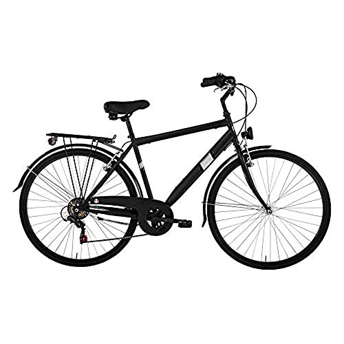 Alpina Bike Moving, Bicicletta Trekking 6v Uomo, Nero, 28'