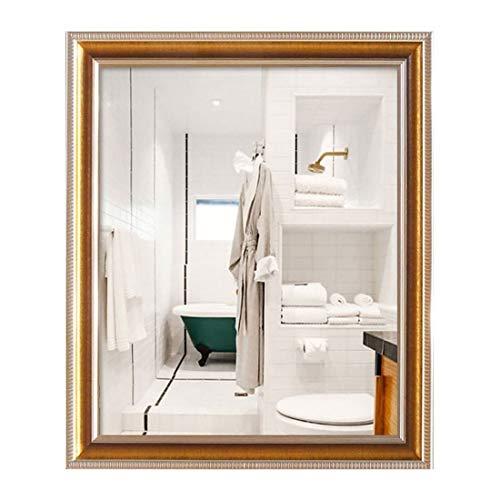 Make-up spiegel make-up spiegel badkamer met frame spiegel, rechthoekige wandspiegel, badkamerdecoratie 50 * 70 cm A