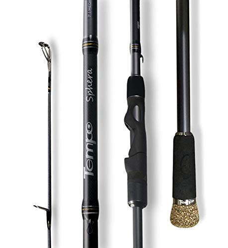 TEMPO Spinning Rod,Sphera-30 Ton Carbon Casting and Ultralight Fishing Rod,Fuji Reel Seat,Durable Stainless Steel Heat Dissipation Ring Line Guides with SiC Inserts,Strongest and Sensitive Action Rods