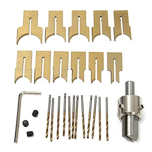 Premium Buddha Perlen Router Ball Blade Bohrer Fräser Holzbearbeitung Set (24PCS, 6-25MM)