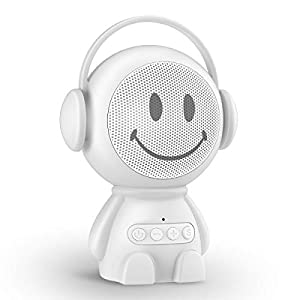 Sleepbox Portable Sound Machines for Baby Adults Rechargeable White Noise Machine with 30 Non Looping Soothing Sounds and Memory Function 32 Levels of Volume and Sleep Timer Sound Therapy.(White) …