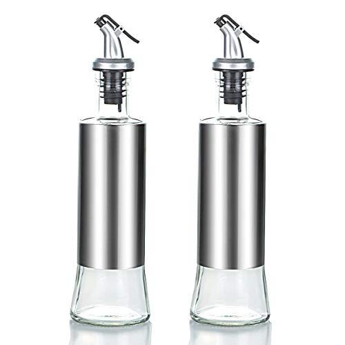 Bottiglia di olio d'oliva,2 Olio e Aceto Dispenser,1 imbuto in acciaio inox per la ricarica