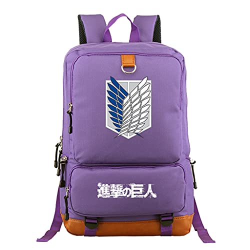 KIACIYA Mochila Anime Attack on Titan, Shingeki No Kyojin Scout Regiment Levi·Ackerman Cosplay Mochila Escolar Casual Estudiante Bolsa de Gran Capacidad Ordenador Portátil Backpack (Z3)