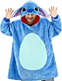 vavalad Cartoon Wearable Blanket Sweatshirt Sherpa Oversized Hoodie TV-Blanket with Sleeves and Pockets for Adults Men Women Teens One Size Fits All