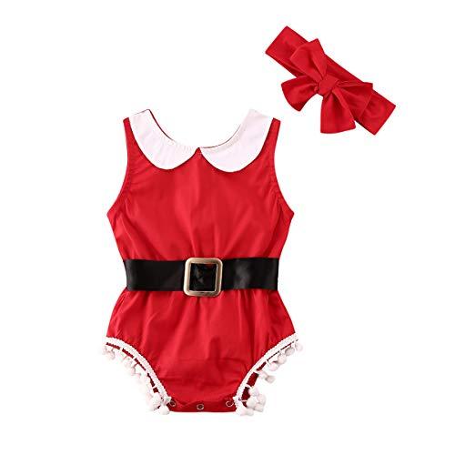 CHOSERL Conjunto de ropa para niñas, bebé recién nacido, borla de algodón, bowknot ropa, mono mono