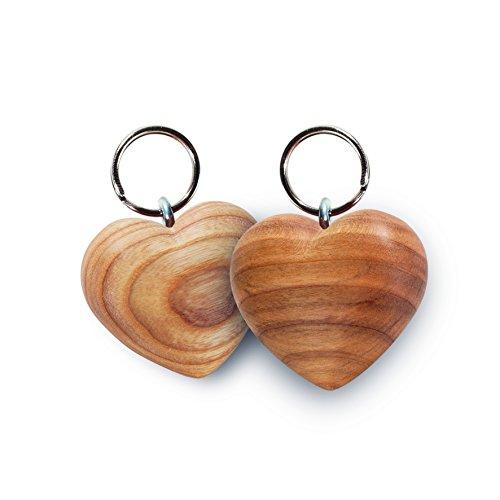 Waldfabrik Black Forest Schlüsselanhänger Herz aus Zierholz geölt, ideal als Geschenkidee