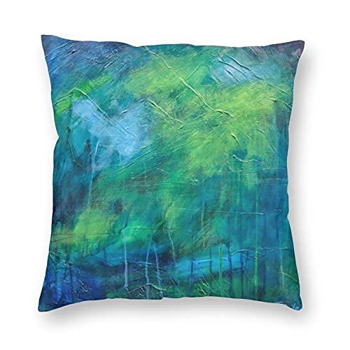 Funda de almohada de poliéster para decoración del hogar, resistente a las manchas, funda de cojín impresa, para sala de estar al aire libre, sofá de camping