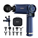 KIATA Massage Gun Deep Tissue, Professional Muscle Massager, Rotatable Handheld Electric Full Body High-Intensity Percussion Massage Device for Pain Relief Athletes, Brushless 10 Attachments & 6 Speed