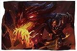 Braum Dragonslayer League Legends - Manta doble para sofá (127 x 152 cm)