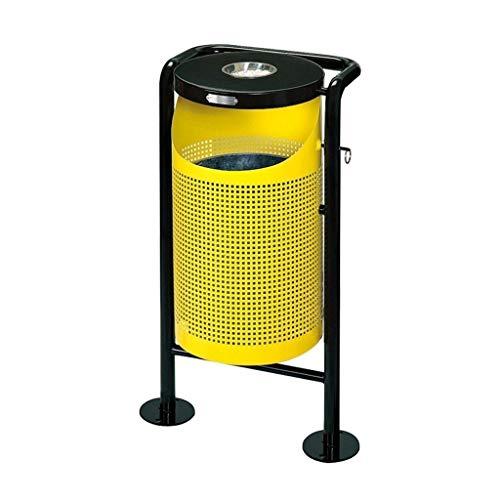 KGDC Cubos de Basura Top de Personalidad con cenicero Papelera de Basura Papelera Creativa Parque de Basura al Aire Libre Papelera de Reciclaje